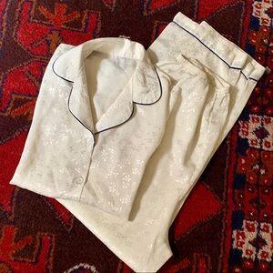 Vintage Pajama Set with Piping